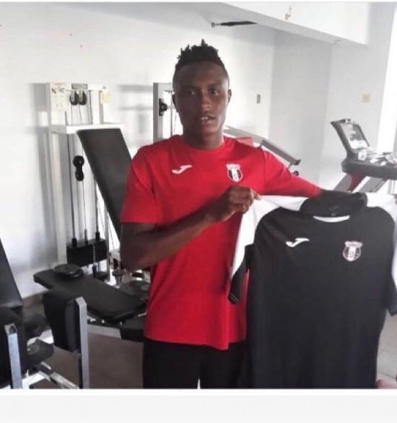 Photo shows Ajayi with Astra's 2019/20 season Jersey.