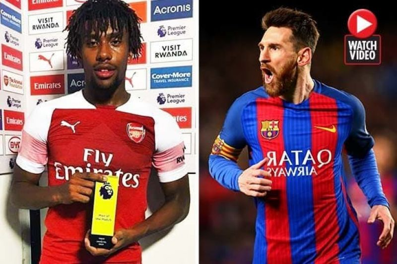 Photo shows Iwobi with the 'Man of The Match' award he won after the Leicester.