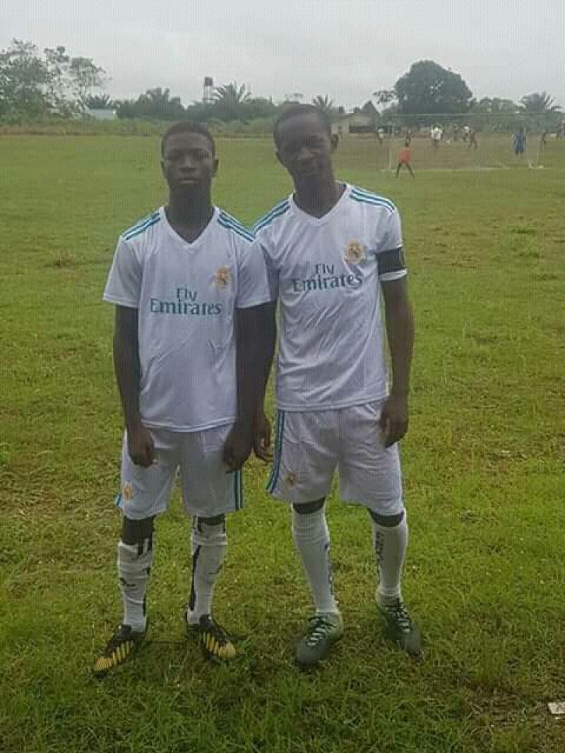 Photo shows Desmond Oji and Jeremiah Salami