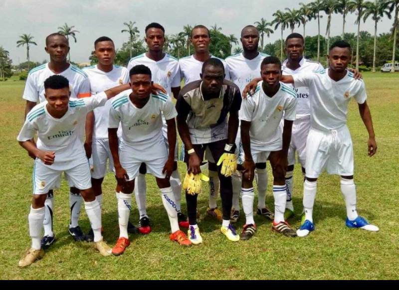 •Photo shows Benin Warriors line up vs Dynamite Force in the Edo FA cup second round. Dynamite won 2-0.