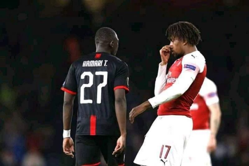 Photo shows Iwobi during the ugly incident.
