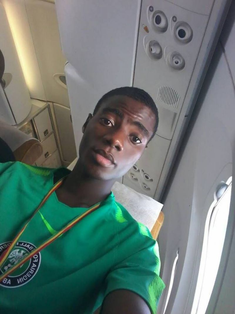 Photo shows Golden Eaglets Star Oluwatimilehin.