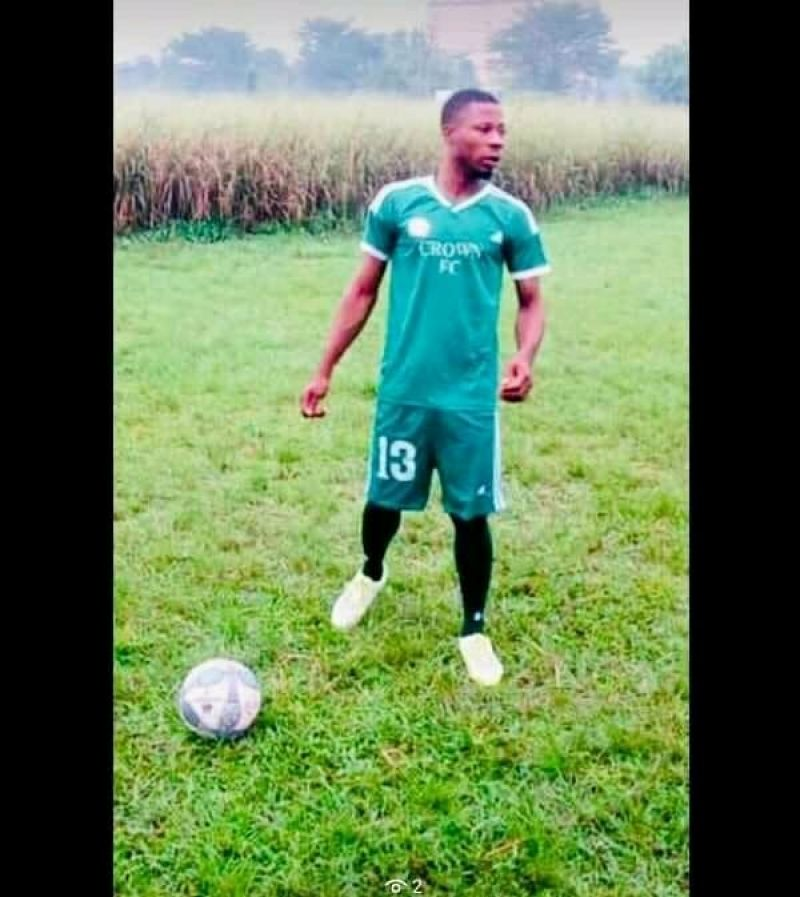 Photo shows the late Crown FC captain,Patrick.
